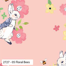 Craft Cotton Company Peter Rabbit Flowers & Dreams - Floral Bees