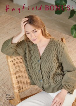 Cardigan in Hayfield Bonus DK - 10267 - Downloadable PDF