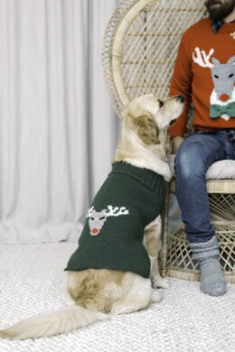 Reindeer Sweater for Dogs in Novita Nordic Wool - Downloadable PDF