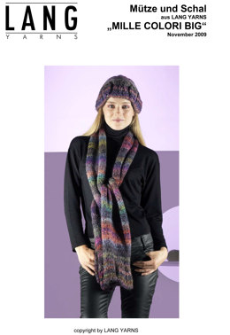 Hat and Scarf in Lang Yarns Mille Colori Big