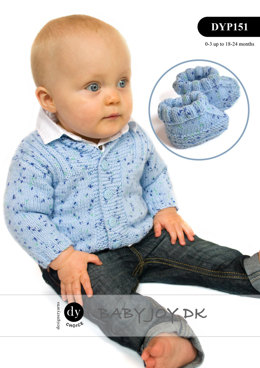 Cardigan, Hat & Bootees in DY Choice Baby Joy DK - DYP151