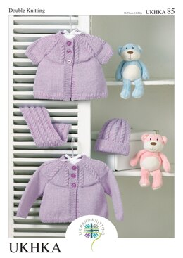 Cardigans, Scarf and Hat in King Cole Baby DK - UKHKA85pdf - Downloadable PDF