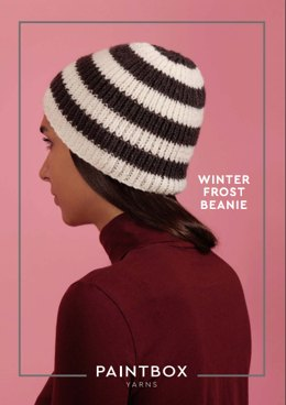 """Winter Frost Beanie"" - Beanie Knitting Pattern in Paintbox Yarns Simply Aran - Aran-Acc-001"