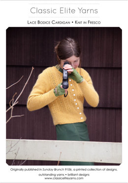 Lace Bodice Cardigan in Classic Elite Yarns Fresco - Downloadable PDF