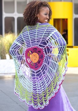 Versatile Circle Wrap in Red Heart Soft Solids - LW2380