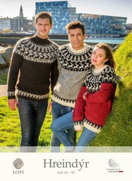 Hreindyr Sweater in Lopi Lettlopi - Lopi 36-05 - Downloadable PDF
