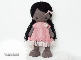 Knitting Pattern, Doll clothes - Shabby Chic dress supplement