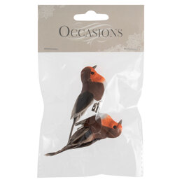 Groves Robins on Clip: Small: 2 Pieces