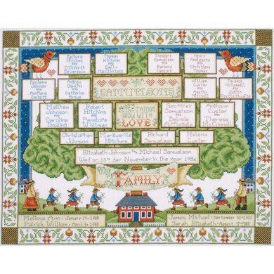 Design WorksFamily Tree Counted Cross StitchKit - 16in x 20in