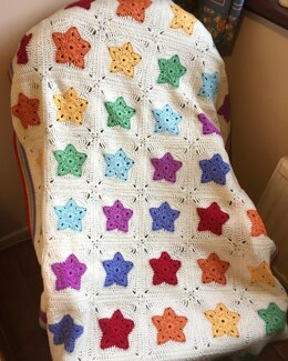 Rainbow of Stars Blanket