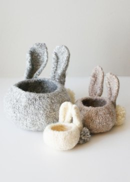 Felted Bunny Bowls (bowls002)