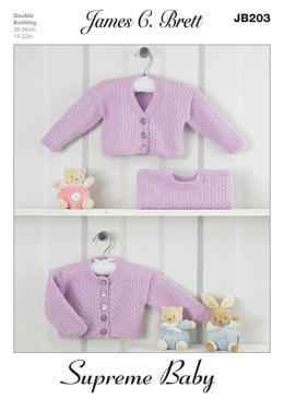 Boleros and Sweaters in James C. Brett Supreme Baby DK - JB203
