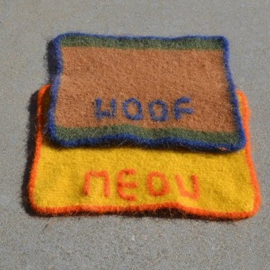 Felted Personalized Pet Placemat