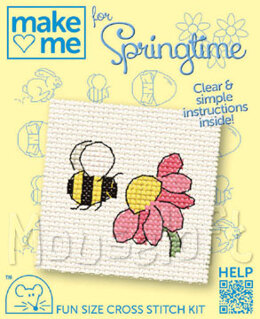 Mouseloft Make Me for Springtime Bee Cross Stitch Kit - 64mm