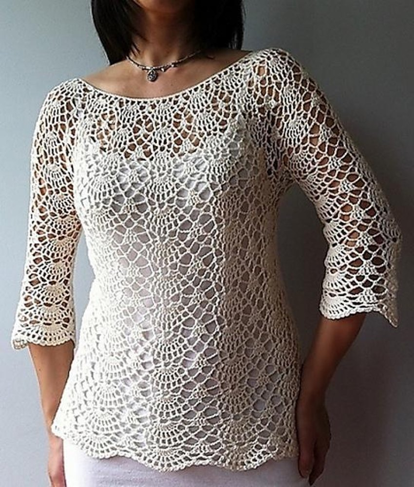 Ada Lacy Shells Top Crochet Pattern By Vicky Chan Designs Crochet