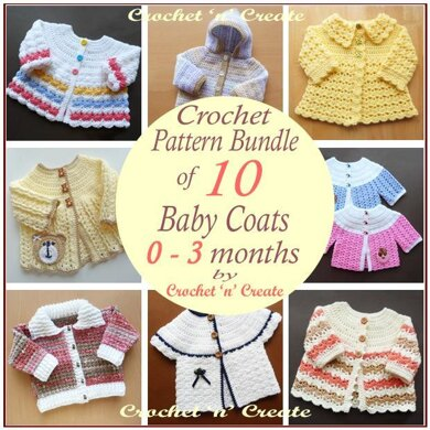 10 Baby Coat Patterns (0-3 months)