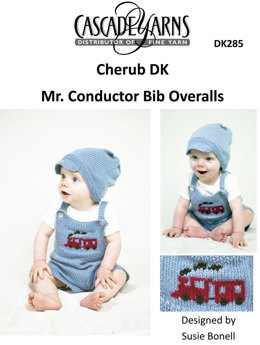 Mr. Conductor Bib Overalls Set in Cascade Cherub DK - DK285