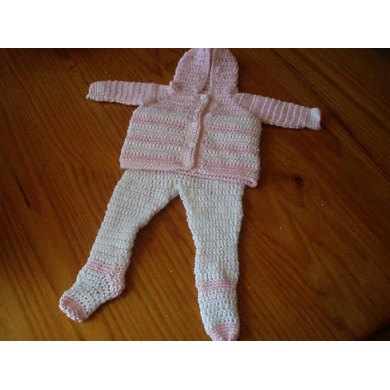 Footed Leggings and Hooded Sweater for Baby