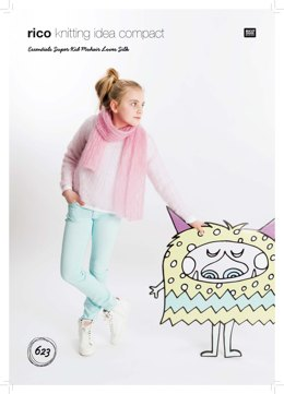 Sweater and Scarf in Rico Essentials Super Kid Mohair Loves Silk - 623 - Leaflet