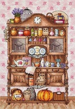 PANNA Kitchen Cabinet with Owls Cross Stitch Kit - PAN-1864-PT