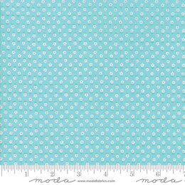 Moda Fabrics First Romance Blue Eye Floral Cut to Length - He Loves Me Aqua