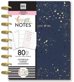 Happy Planner Medium Journaling Notebook W/80 Sheets - Go After Your Dreams