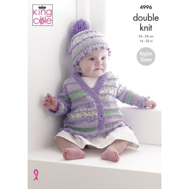 Jackets, Hats and Dress in King Cole DK - 4996 - Downloadable PDF