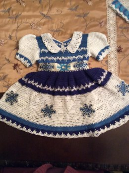 Erika Lauren snowflake dress