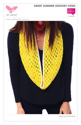 Sweet Summer Crochet Cowl in Be Sweet Bamboo - Downloadable PDF