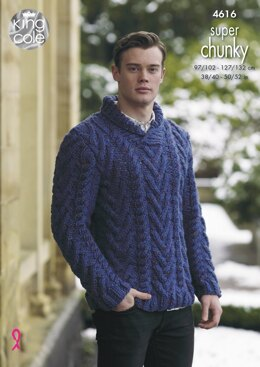 Sweaters in King Cole Big Value Super Chunky Twist - 4616
