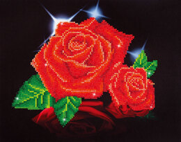 Diamond Dotz Red Rose Sparkle Diamond Painting Kit