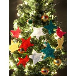 Holiday Stars Garland in Lily Sugar 'n Cream Solids