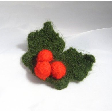 Felt Holly and Berries