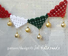 Christmas Bunting Crochet Garland, applique or cake topper