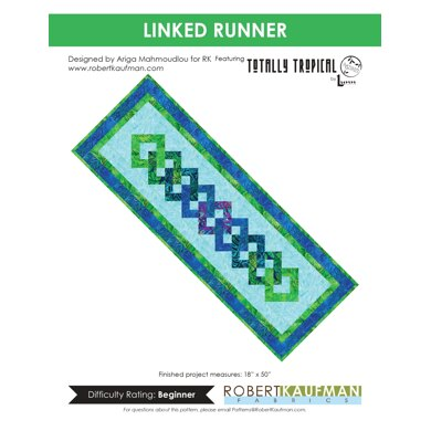 Robert Kaufman Linked Runner - Downloadable PDF