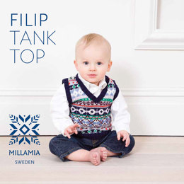 Filip Tank Top in MillaMia Naturally Soft Merino - Downloadable PDF
