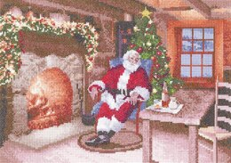 Heritage Santa's Job Done Cross Stitch Aida Kit