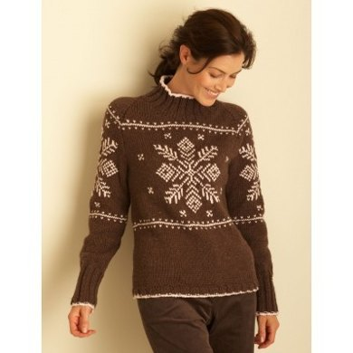 Snowflake Sweaters in Bernat Super Value