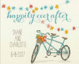 Dimensions Happily Ever After Cross Stitch Kit - 25.4cm x 20.3cm