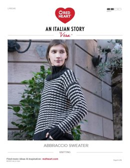 Abbraccio Sweater in Red Heart Vera - LM6046 - Downloadable PDF