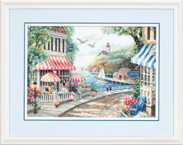 Dimensions Café by the Sea Cross Stitch Kit