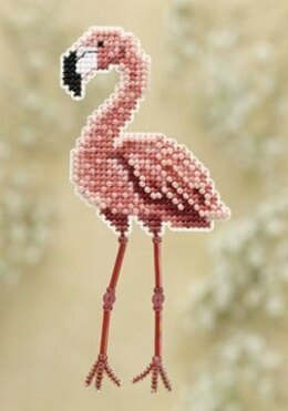 Mill Hill Flamingo Fridge Magnet Cross Stitch Kit