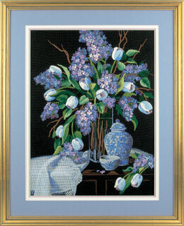 Dimensions Lilacs and Lace Crewel Embroidery Kit - 30 x 41cm