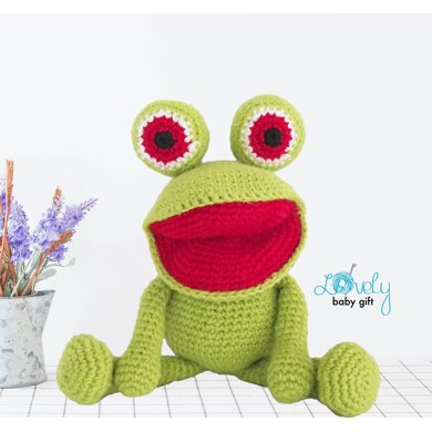 Swimming frog crochet pattern | Amiguroom Toys | 390x390