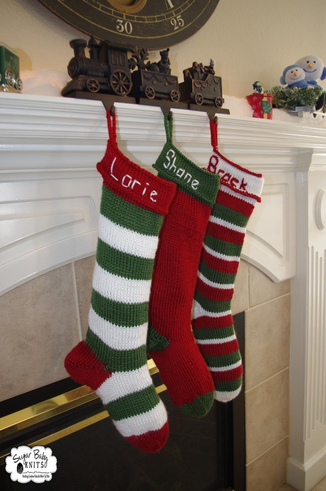Knit Christmas Stocking Knitting pattern by SugarBabyKnits