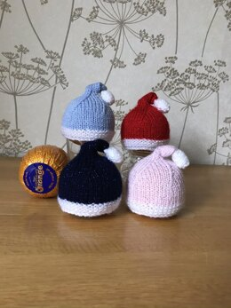 Santa Hat Covers for Chocolate Oranges