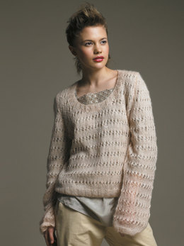 Lucetta Sweater in Rowan Kidsilk Haze