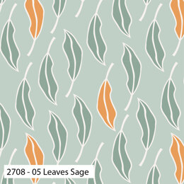 Craft Cotton Company Botanical Elements - Leaves Sage