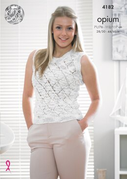 Sweater and Top in King Cole Opium - 4182 - Downloadable PDF