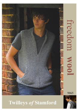Gilet with Optional Hood in Twilleys Freedom Wool - 9065